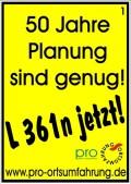 50 Jahre Planung sind genug!