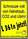 Schnauze voll von Feinstaub, CO2 und Lärm!