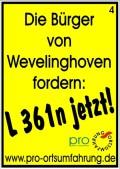 Die Bürger von Wevelinghoven fordern: